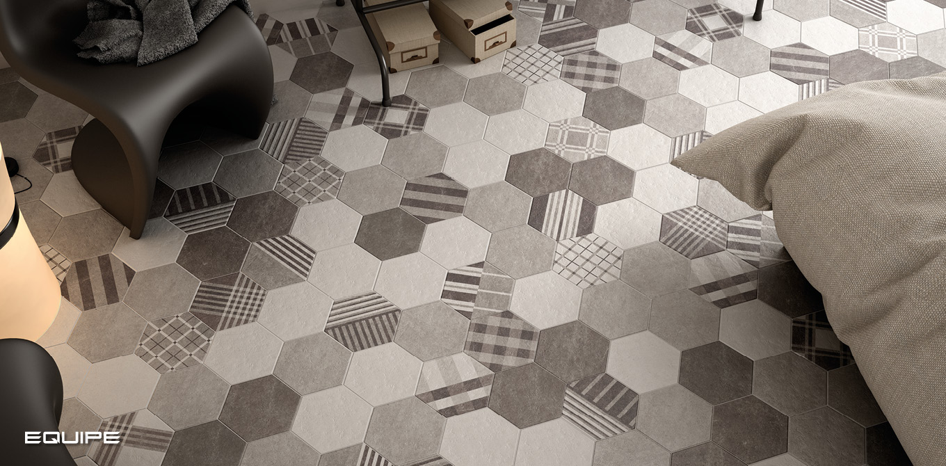 Hexatile Cement Black, Grey, White / Geo Grey