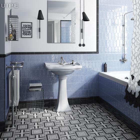 Masía Blue 7,5x15 / Caprice Deco B&W Metropolitan