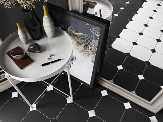 Octagon Negro Mate / Blanco Mate