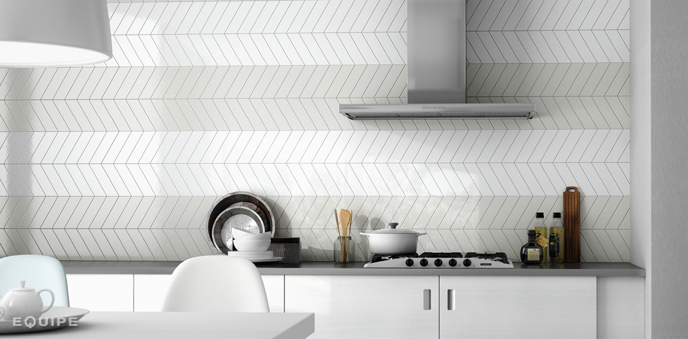 Chevron Wall White, Mint