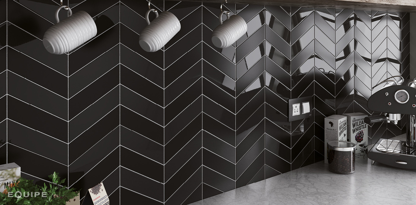 Chevron Wall Black