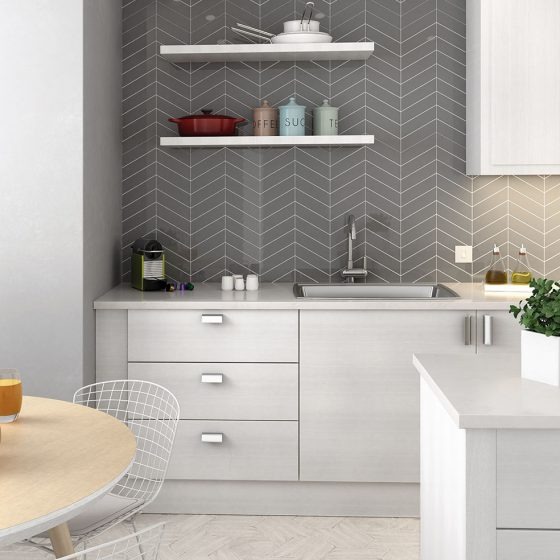 Chevron Wall Dark Grey