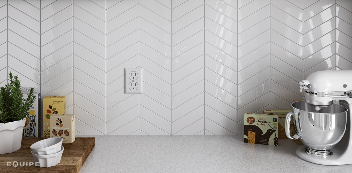 Chevron Wall White