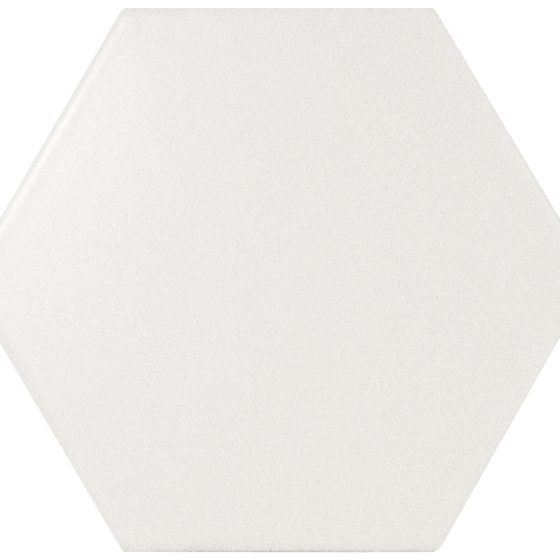 22357 Scale Hexagon porc white matt