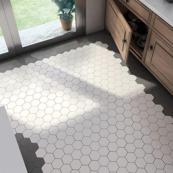 Scale Hexagon White, Black