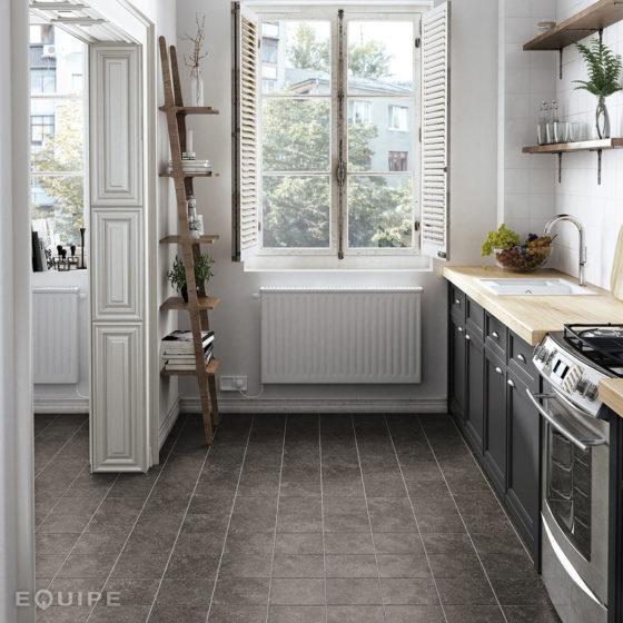 Coralstone Black 20x20 / Evolution White