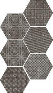 Coralstone Hex. Mélange Black 29.5x25,4
