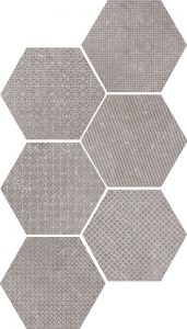 Coralstone Hex. Mélange Black Grey 29.5x25,4