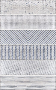 Splendours fabric Blue