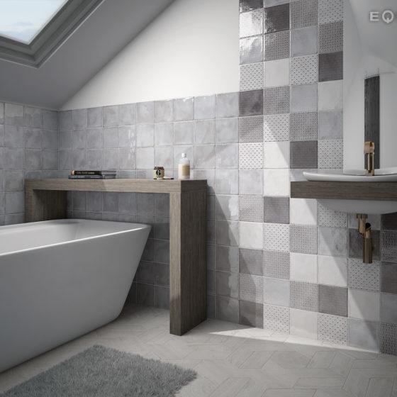 Splendours Grey / Decor Royal Grey 15x15cm