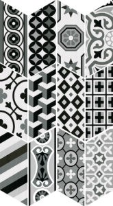 Chevron Patchwork B&W