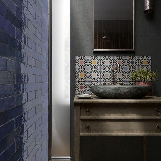 Artisan Colonial Blue 6,5x20 cm / deco Oasis 13,2x13,2 cm