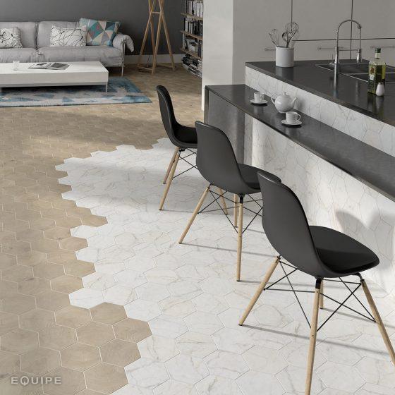 Carrara Hexatile / Hexawood Tan