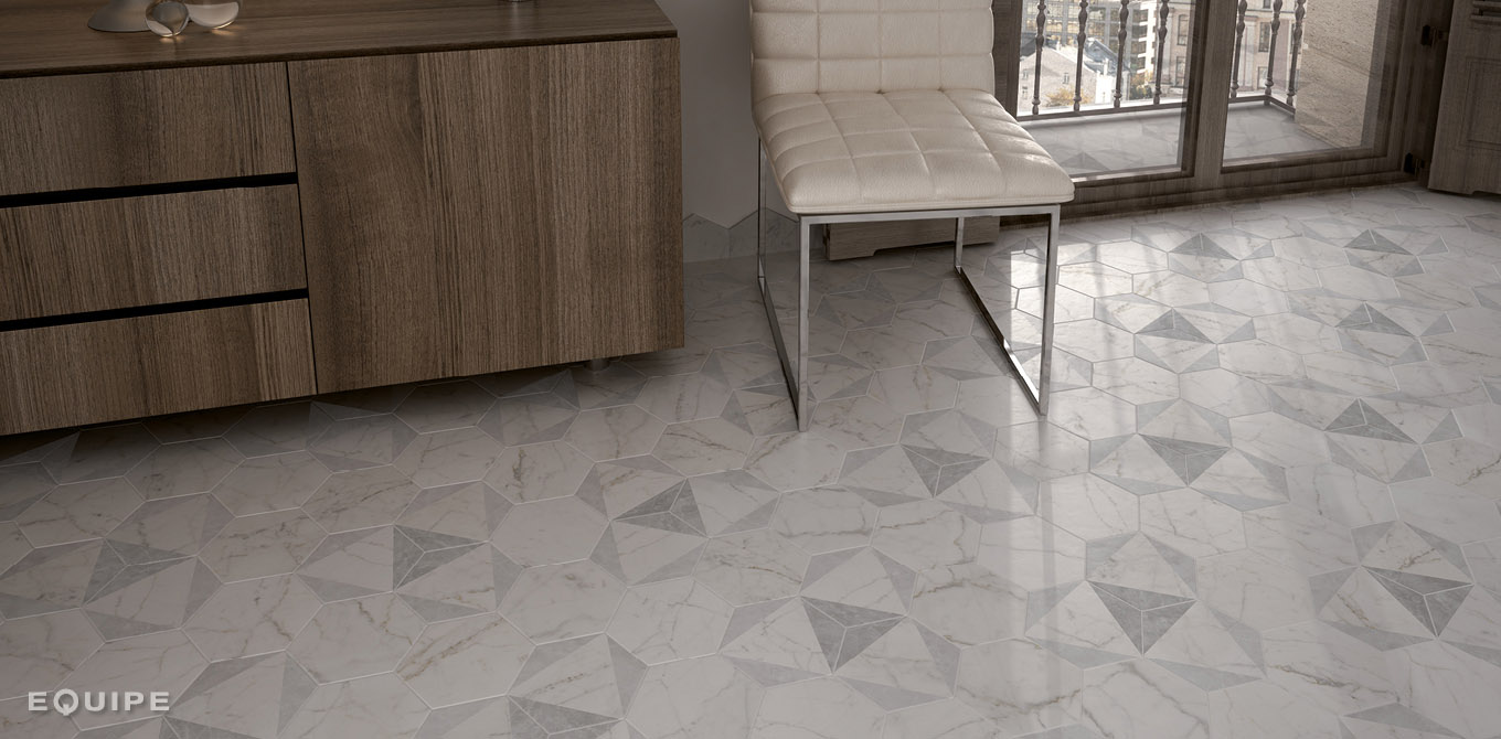 Carrara Hexatile Decor Peak