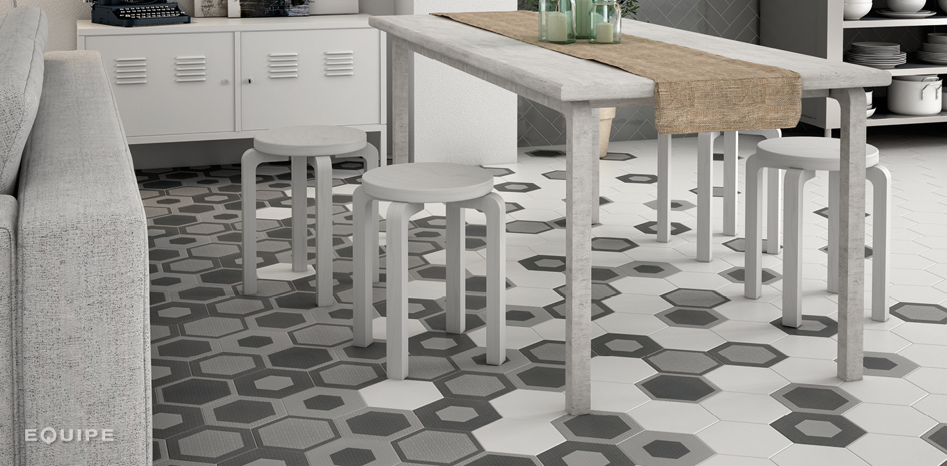 Hexatile White / Hexatile Charmant