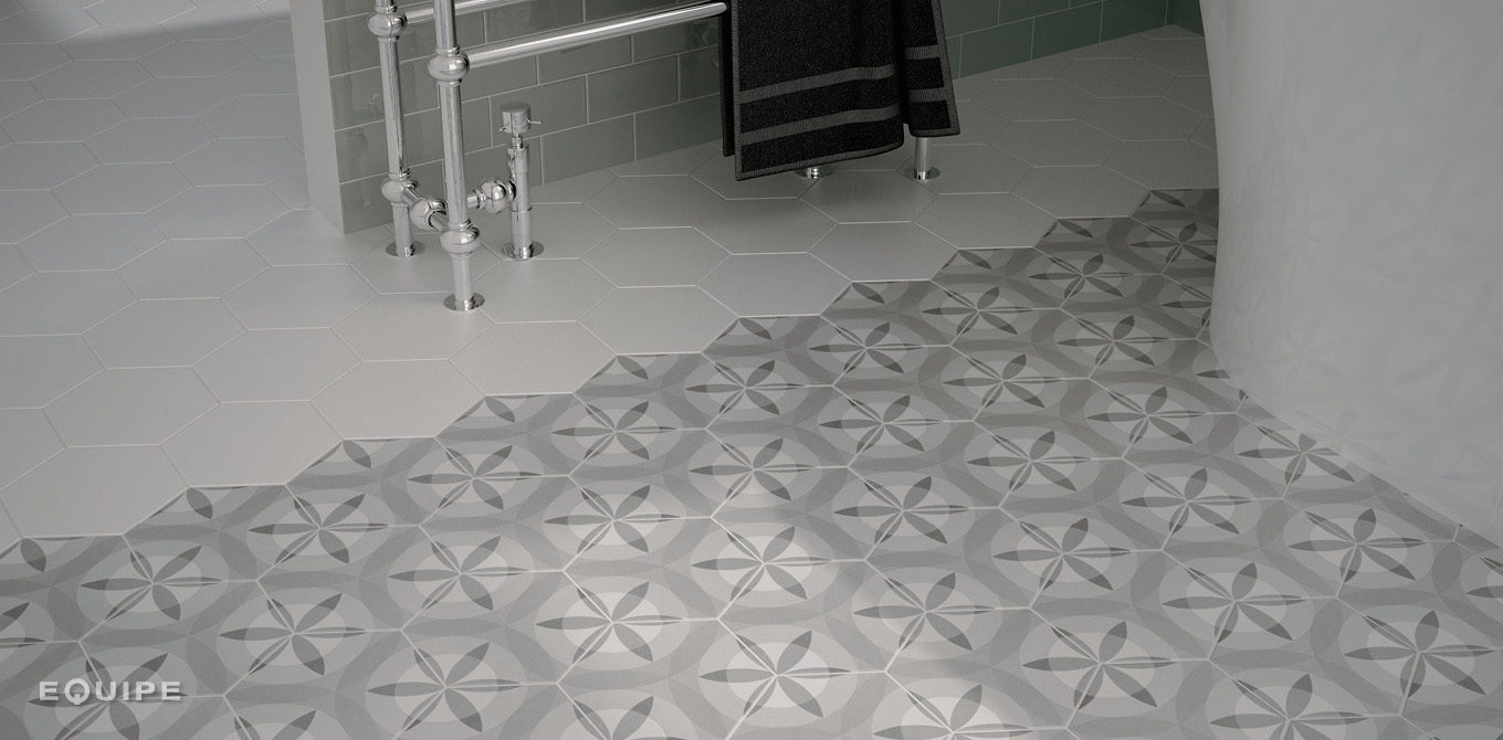 Hexatile Mate Blanco / Hexatile Nature B&W
