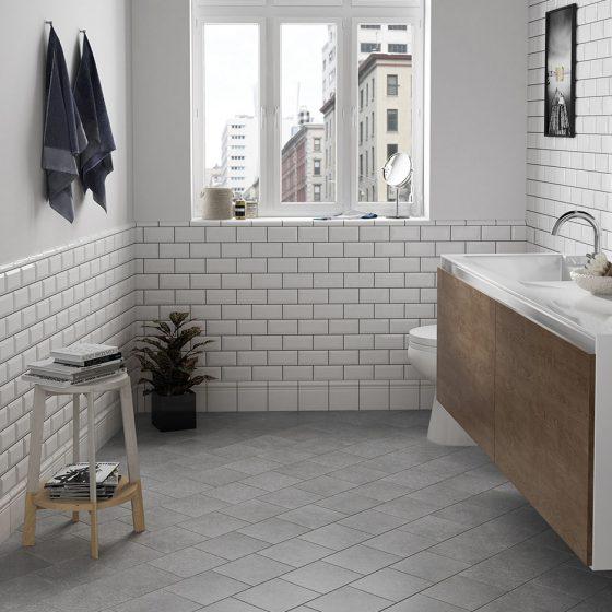 Micro grey 20x20 / Metro blanco 7,5x15