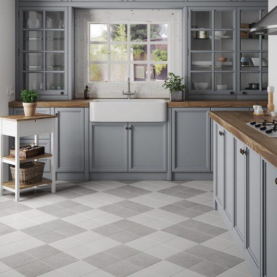 Micro White / Grey 20x20