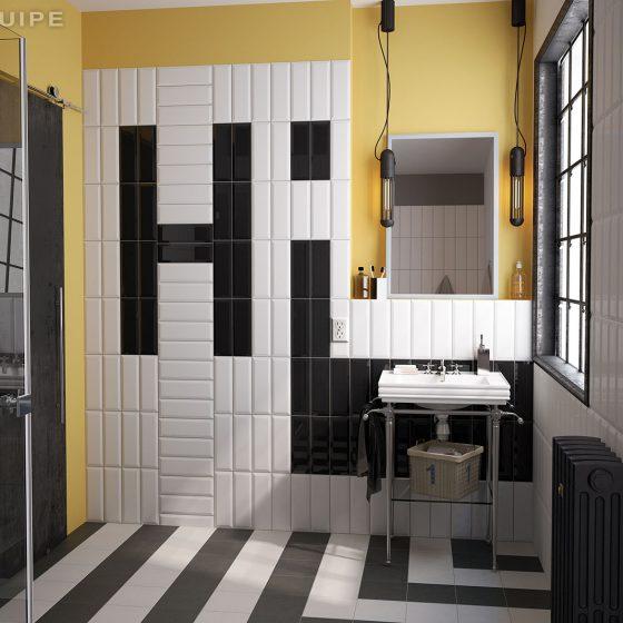 Metro White, Black 7,5x30
