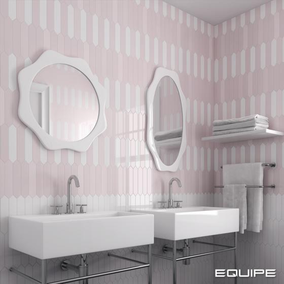 Arrow Blush Pink, White 5x25 cm