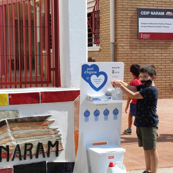 Equipe Cerámicas - Punto de higiene CEIP Naran - Figueroles