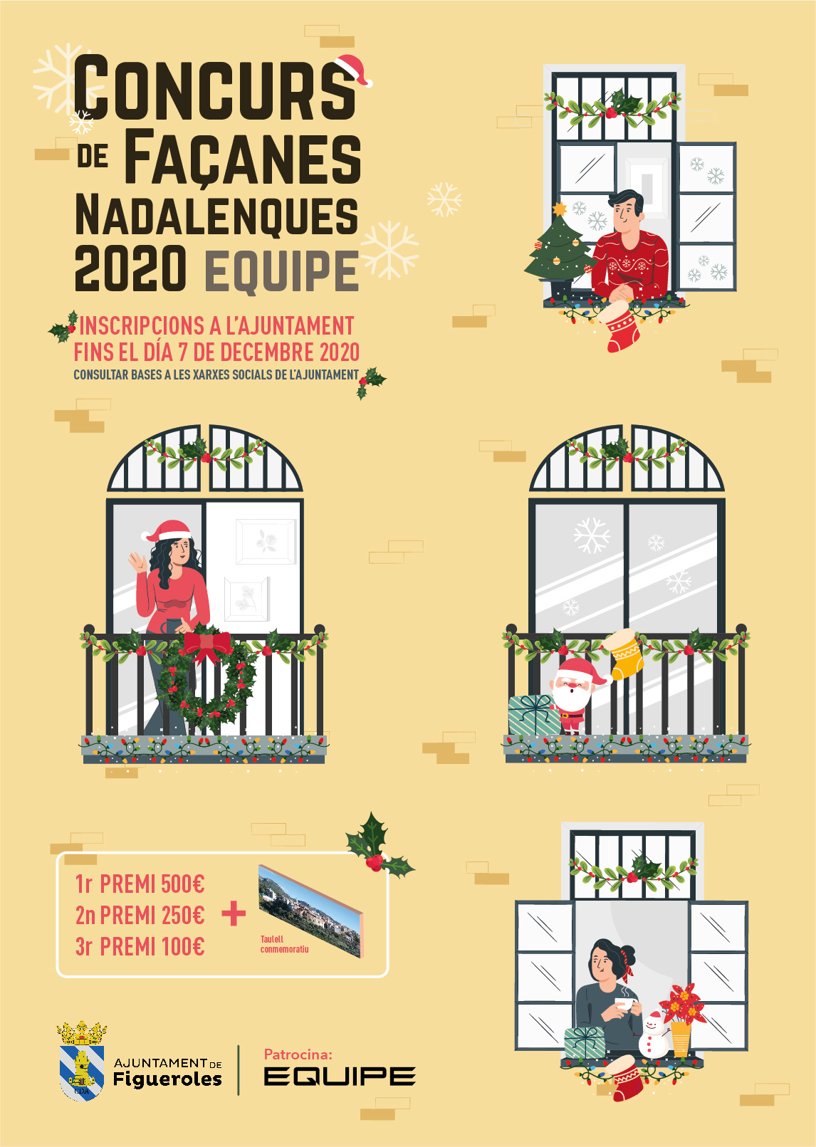 Cartel concurso de cachadas navideñas 2020 - Equipe Cerámicas