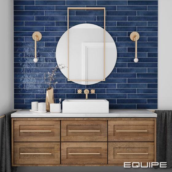 Manacor Ocean Blue 6,5x40 cm - Blue Bathroom-Wood Cabinet