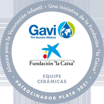Sello Patrocinador Plata 2021 - Equipe Cerámicas: Alianza para la Vacunación Infantil.