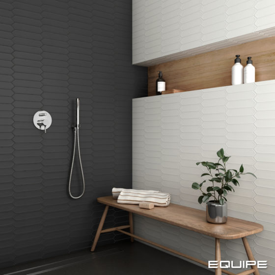 Lanse White & Black Shower